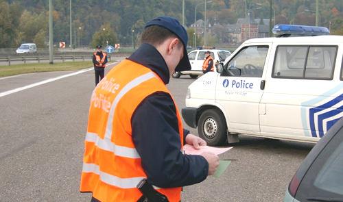 Les priorités de la police pour l'année 2014 concernant les contrôles routiers
