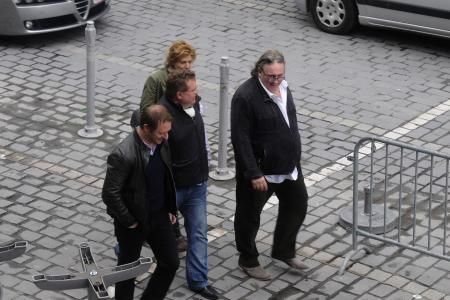Arrivée future de Depardieu à Tournai
