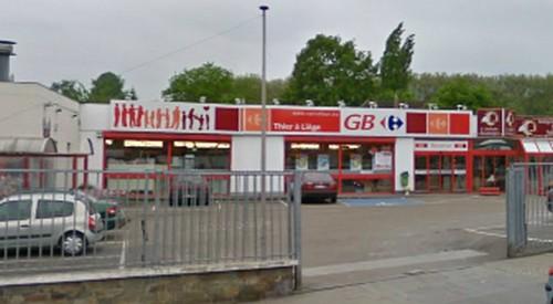 Braquage au supermarché GB Carrefour au Thier-à-Liège