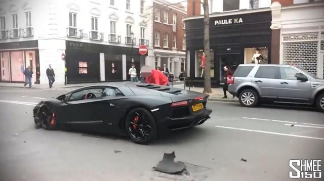 Vidéo insolite d'une Lamborghini Aventador dans les rues de Londres
