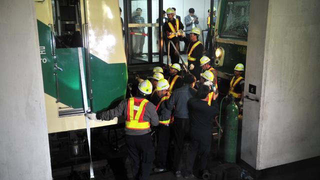 200 blessés à Séoul dans un collision entre deux rames de métro