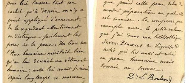 Un livre du 19e siècle est relié en peau humaine