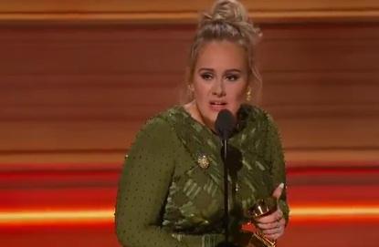 Grammy Awards : Le discours d'Adele en hommage à Beyoncé